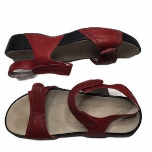 Propet Red Leather Comfort Sandals Sz10